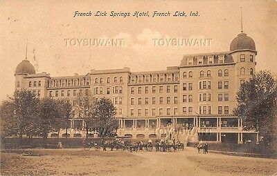 Vintage Postcard French Lick Springs Hotel Indiana Early Pluto West Baden 1908