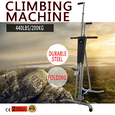 8006 LCD Vertical Climber Stepper Climbing Machine Body Workout Time Cardio US