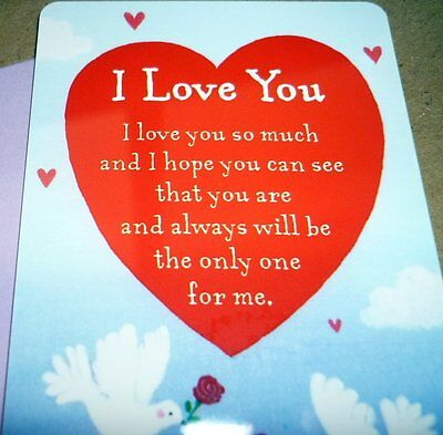 "Heartwarmer Keepsake Message Card ""i Love You"" With Special Inspirational Verse"