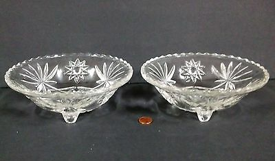Two Early American Prescut EAPC, Star of David, 3 toed 6 3/4 inch Bowls Anchor H