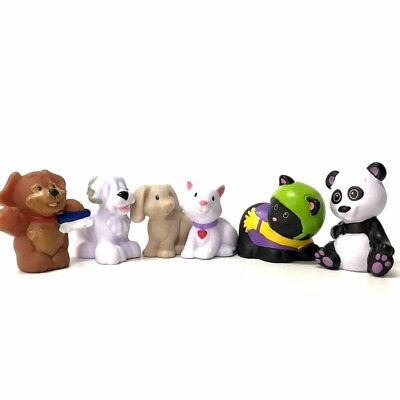 Lot 6pcs Fisher-Price Little People Animal Family Dog Puppy Friendship Figure
