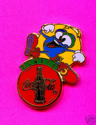 1996 Olympic Coca Cola Pin With Izzy Running Pin