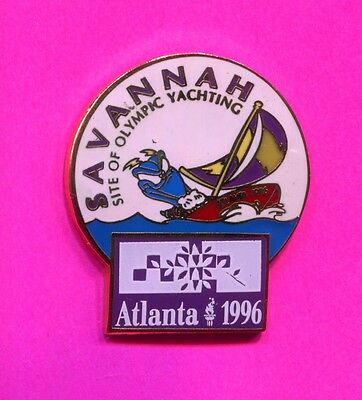 1996 Olympic Yachting Pin Savannah Site Of Olympic Yachting Pin Rare Pin