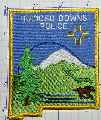 New Mexico, Ruidoso Downs Police Dept Patch