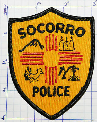 New Mexico, Socorro Police Dept Gold Patch