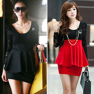 Fashion Women Summer Dress Casual Evening Party Cocktail Lace Mini Dress