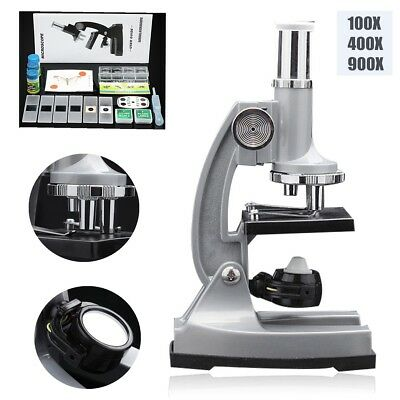 100x 400x 900x Magnification Biological Bio Science Chemistry Student Microscope