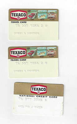 Vintage 1970's Texaco OIl Gas Station Credit Cards