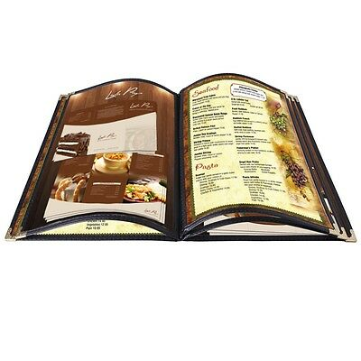 20pcs Menu Covers 5 Page 10 View 8.5x14 Fold Book for Restaurant Hotel Cafe Bar