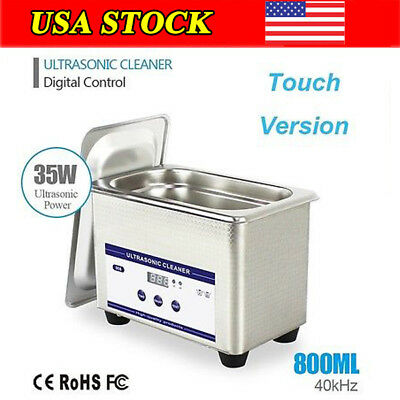 0.8L Stainless Steel Ultrasonic Parts Cleaner Timer Industry Cleaning Equipment