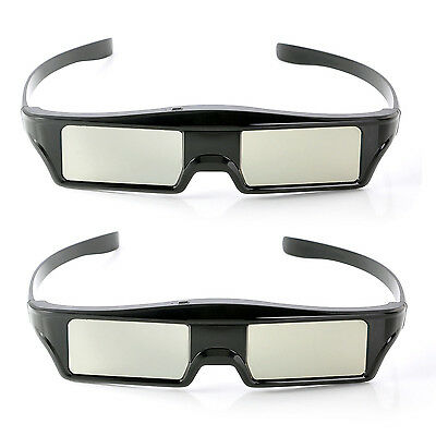 2x Replacement Active 3D Glasses for Epson Pro Home Cinema Projector ELPGS03