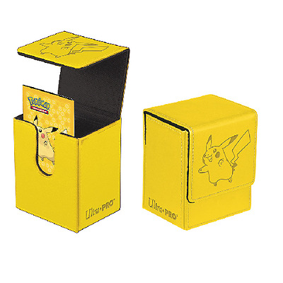 Ultra Pro - Pokemon Pikachu Flip Storage Case Deck Box Holds 100 Sleeved Cards