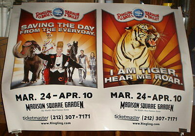 RINGLING BROS old CIRCUS 135th POSTER 5ft SUBWAY POSTER madison square garden