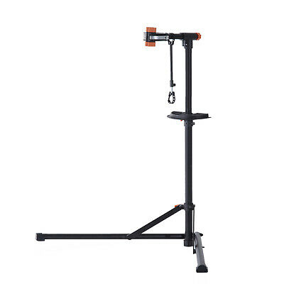 "39"" To 63"" Pro Bike Repair Stand W/ Tool Box Arm Bicycle Cycle Repairing Rack BK"