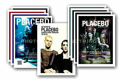 PLACEBO  - 10 promotional posters - collectable postcard set # 1