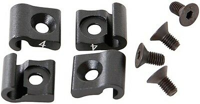4 Cable Holder Aluminium for Chainstays in Black for MTB