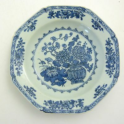 Chinese Blue And White Porcelain Octagonal Soup Plate, Yongzheng Period