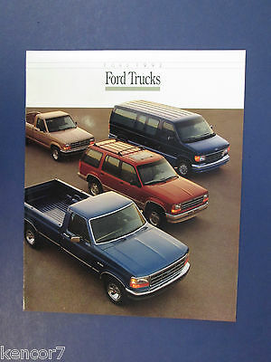 1992 Ford Trucks Full Line Sales Brochure C7722
