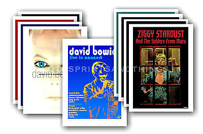 DAVID BOWIE  - 10 promotional posters - collectable postcard set # 6