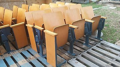 Wood theater seats