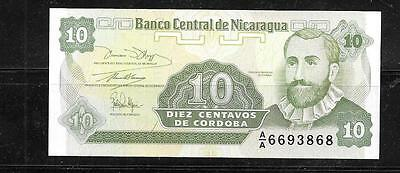 NICARAGUA #169a UNCIRCULATED OLD 1991 10 CENTAVO BANKNOTE BILL NOTE PAPER MONEY