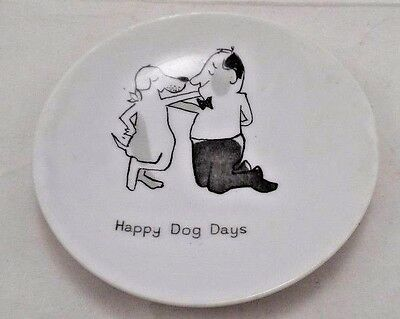 1950s Bolling Company Happy Dog Days Man's Best Friend Pup Mini Plate Butter Pat