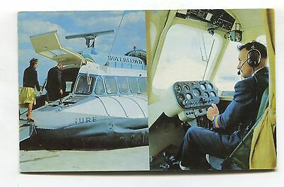 Hoverlloyd Westland SRN6 Hovercraft from Ramsgate to Calais - c1960's postcard