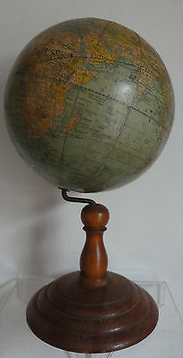 Rand, McNally & Co Antique World Terrestrial Tabletop Globe 1892