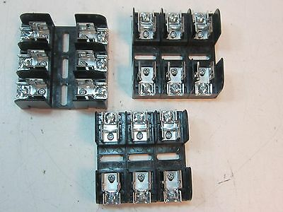 """(3)  MERSEN 20328R Fuse Block 250 Volts 30 AC AMPS 10 to 14 AWG 9/16"""" Fuse New"""