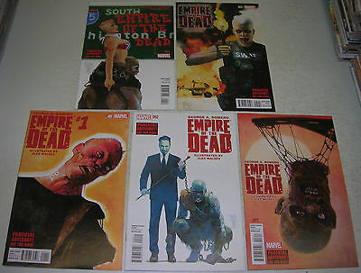 GEORGE ROMERO'S EMPIRE OF THE DEAD ACT ONE 1 2 3 4 5 (Marvel) COMPLETE (VF-)