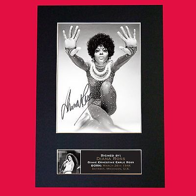 DIANA ROSS Very Rare Quality Autograph Mounted Signed Photo PRINT A4 665