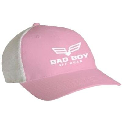 Bad Boy Off Road Trucker Full Logo Mesh Back Cap - Polyester & Cotton - Pink