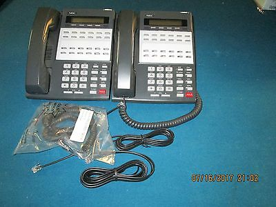 NEC DS1000 DS2000 Group Of 2 22 Button Display Phones Part# 80573