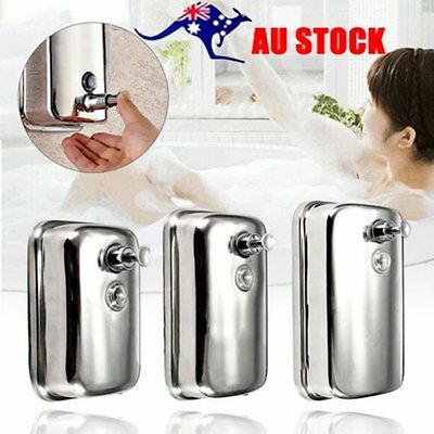 Bathroom Stainless Steel Soap/Shampoo Dispenser Lotion Pump Action Wall FNM