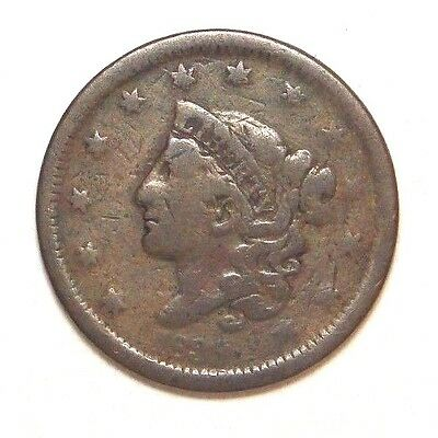 1839 Coronet Head Large Cent Rare Old U.s. Type Coin