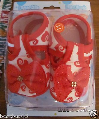 Baby Girl Shoes (6) Different Styles Crib /Crawl / Walk New In Boxes
