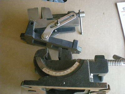 LOT of 2 Vintage STANLEY No.992A Machinist Drill Press Angle Vise Base & OTHER