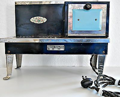 Vintage Childs Metal Ware Electric Stove  Working
