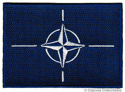 Nato Flag Patch Embroidered Military Iron-On Emblem Usa Europe Military Insignia