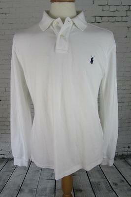 Mens Polo By Ralph Lauren Long Sleeved Slim Fit Polo Shirt Terrace Casuals Xl