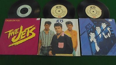 "THE JETS - 3 x 7"" SINGLE VINYL - SEE PICTURES FOR DETAILS"