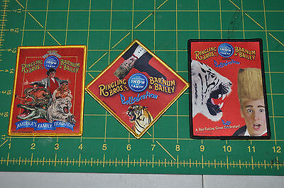 3 Ringling Bros Barnum and Bailey Circus Patch Not sold Special Promotion item