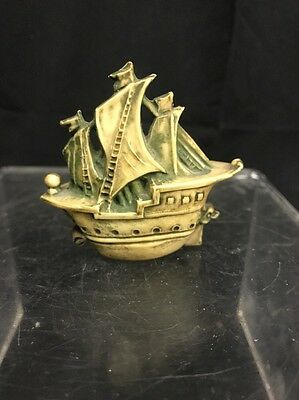 Vintage Celluloid Figural Pirate Ship Sewing Tape Measure