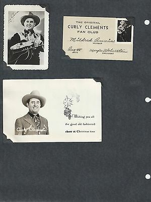 Curly Clements Neal Bland Slim Bland Scrapbook Pages + Fan Club - Grand Ole Opry