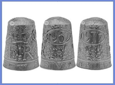 Sterling Silver Commemorative Thimble 'Silver Jubilee'  1952-1977