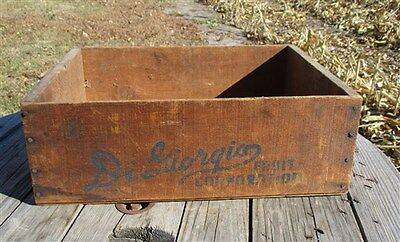 DiGiorgio Farms Fruit Vintage Advertising Wooden Crate Sign Kern County CA