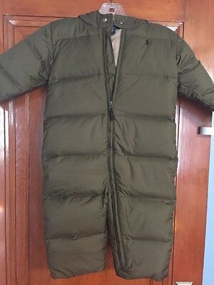 Snow Suit 24 Months, Polo Ralph Lauren, Olive Green With Hood