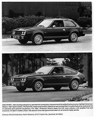 1981 AMC Spirit DL Sedan & Liftback Factory Photo ca7760