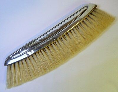 "Antique GERMAN SILVER HAT / CLOTHES BRUSH Engraved PHILIAS Natural Bristles 8"" L"