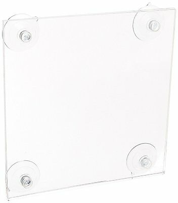 "Azar Displays 106626-2-pack 5.5"" W by 8.5"" H Acrylic Sign Holder 2-Pack  (L76)"